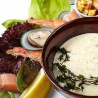 Крем суп из мидий