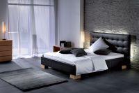 Кровать с кожаным изголовьем3