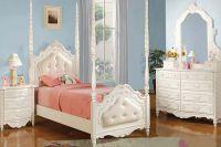 Кровать с кожаным изголовьем5