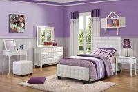 Кровать с кожаным изголовьем6