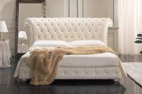 Кровать с кожаным изголовьем7