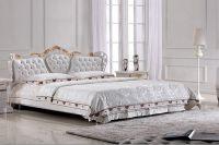 Кровать с кожаным изголовьем8