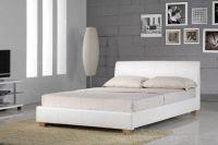 Кровать с кожаным изголовьем9