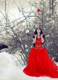фотосессия на улице зимой позы 1