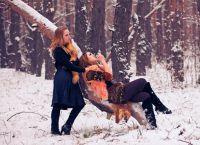 фотосессия на улице зимой позы 11