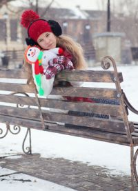 фотосессия на улице зимой позы 9