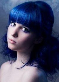 голубые волосы7
