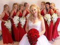 красное платье для подружки невесты 1