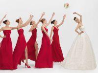 красное платье для подружки невесты 2