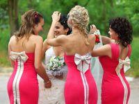 красное платье для подружки невесты 3