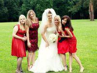 красное платье для подружки невесты 6