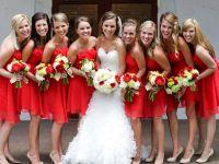 красное платье для подружки невесты 9