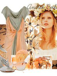 макияж под персиковое платье 2