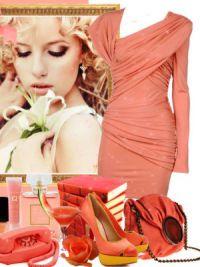 макияж под персиковое платье 3