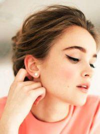 макияж под персиковое платье 6