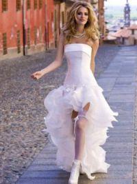 Платье длинное сзади короткое спереди 10
