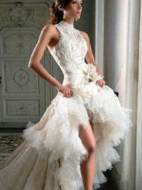 Платье длинное сзади короткое спереди 11