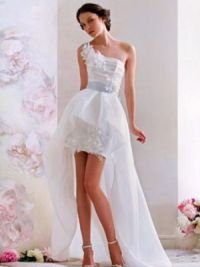 Платье длинное сзади короткое спереди 12