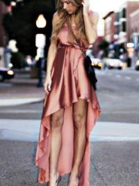 Платье длинное сзади короткое спереди 4
