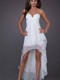 Платье длинное сзади короткое спереди 6