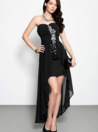 Платье длинное сзади короткое спереди 8