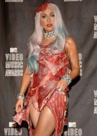 платье из мяса леди гага 8