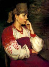 Русский женский народный костюм 3