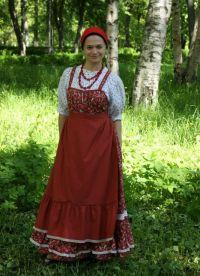 Русский женский народный костюм 8