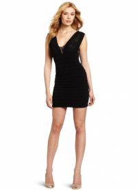 с чем носить черное платье без рукавов 2