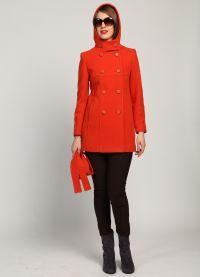 с чем носить коралловое пальто 9