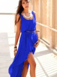 С чем носить шифоновое платье 3