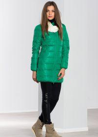 с чем носить зеленый пуховик 3