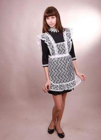 Школьное платье с фартуком 1