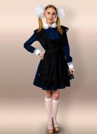 Школьное платье с фартуком 12
