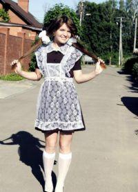 Школьное платье с фартуком 3