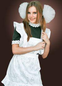 Школьное платье с фартуком 4