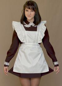 Школьное платье с фартуком 6