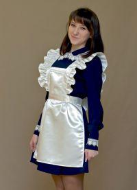 Школьное платье с фартуком 7