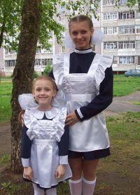 Школьное платье с фартуком 9
