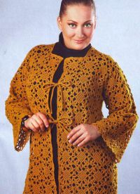 Вязаная мода для полных женщин 6