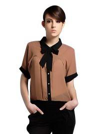 Модели блузок из шифона