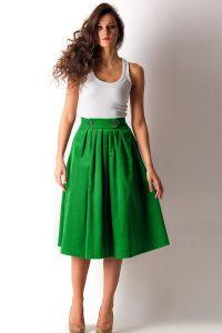 модели юбок для женщин с выступающим животом12