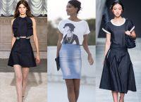 модные джинсовые юбки 2015 1