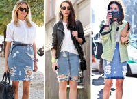 модные джинсовые юбки 2015 2