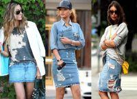 модные джинсовые юбки 2015 3