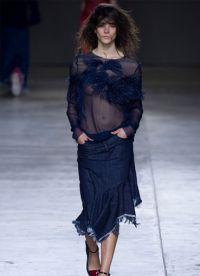 модные джинсовые юбки 2015 5