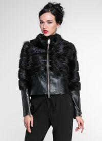Модные кожаные куртки 2015 7