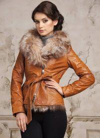 Модные кожаные куртки 2015 8