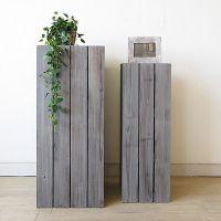 Напольная деревянная подставка под цветы5