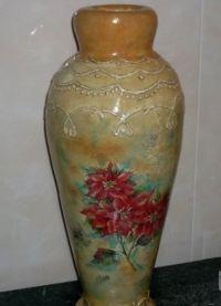 Напольная ваза своими руками 15
